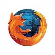 Logo de firefox hecho un puzzle