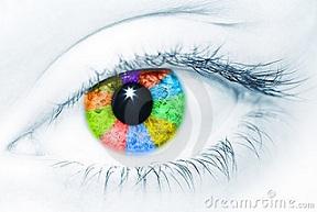 Ojo de colores