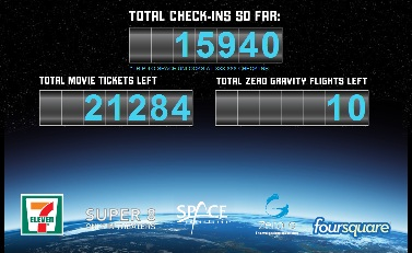 Viaje gratis al espacio concurso Foursquare