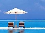 sombrilla de playa en vacaciones