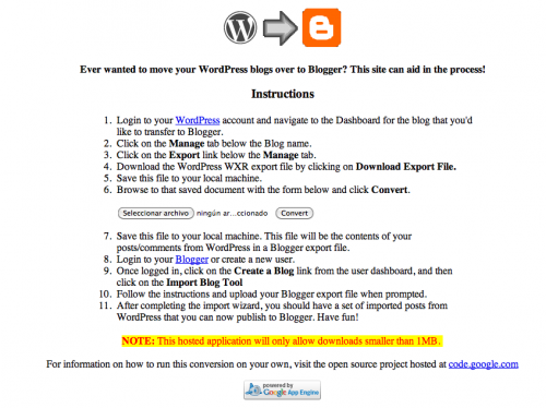 wp2blogger