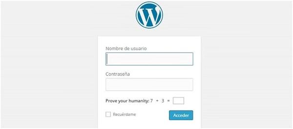 acceso wordpress